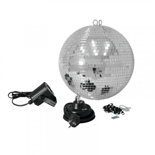 Зеркальный шар Mirror Ball Set 30cm with LED Spot