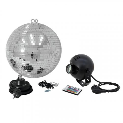 Зеркальный шар Mirror Ball Set 30cm with LED Spot Фото №2